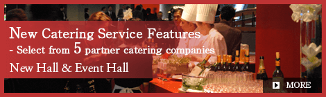 New Catering Service Features - Select from 5 partner catering companies